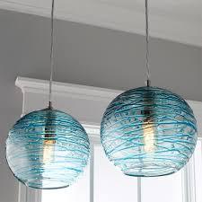 glass globe pendant lighting. Swirling Glass Globe Pendant Light Aqua Lighting N
