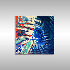 blue abstract art by miami artist laelanie larach art for miami gallery of