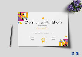 Certificate Of Participation Templates Badminton Participation Certificate Template