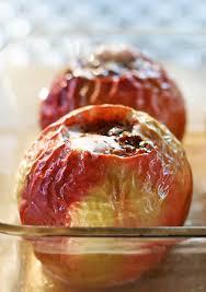 apple food. baked apples apple food