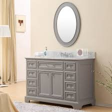 Traditional Bathroom Sinks Carenton 48 Inch Traditional Bathroom Vanity Gray Finish