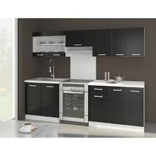 Ultra Cuisine Complète Avec Plan De Travail L 2m40 Noir Mat