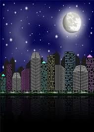 SUSU Super City Photography <b>Backdrops</b> 5x7ft(<b>150x220cm</b>) Moon ...