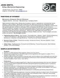 Mechanical Engineer Resume Template Stunning Mechanical Engineering Resume Sample Free Download Diploma Format