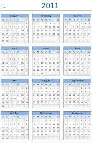 2011 Calendar Template Microsoft Word Postyle