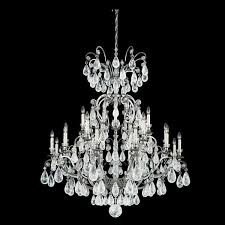 schonbek versailles 25 light rock crystal chandelier