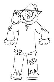 scarecrow clipart coloring 9