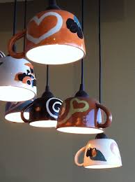 coffee lamps in coffee n cream dallas texas would be cute for spot