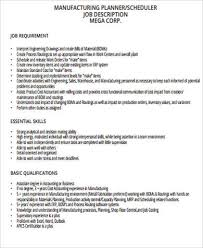 Production Scheduler Job Description