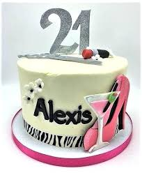 94 21st Birthday Cake For Female 90th Roses Birthday Cake Pink