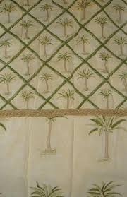 bamboo print curtains palm trees bamboo fabric shower curtain yellow green tan tropical tropical bamboo pattern