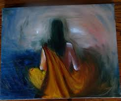 original yoga painting omwoman yoga meditate. Meditation Painting - Meditating Woman By Archana Santra Original Yoga Omwoman Meditate