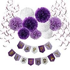 Purple Happy Birthday Banner Birthday Decorations Cocodeko Happy Birthday Banner Bunting With