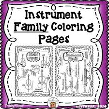 Small Picture Musical Instrument Instrument Families Coloring Pages by