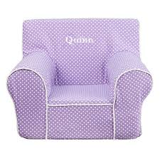 quinn light purple polka dot kids foam chair with personalization included