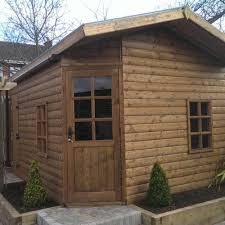 home office cabin. 14ft X 10ft 34mm Thick, Log Effect Home Office. Office Cabin K