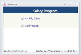 Access Software Create Ms Access Database Software To Prepare Salary In Your Company