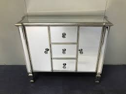 antique mirrored cabinet vintage mirrored sideboard mirrored 3 drawer and 2 cupboards venetian glass sideboard mirrored sideboard