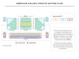 Broadway Theatre Seating Chart American Airlines Theatre Seating Chart The Rose Tattoo On