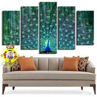 2016 hot sale resim tuval 5 picture combination wall art blue beautiful peacock painting the print on canvas animal pictures for home decor on home decor wall art uk with shop peacock home decor canvas art uk peacock home decor canvas