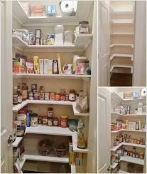 u shaped shelves that make access to all the stuff easier
