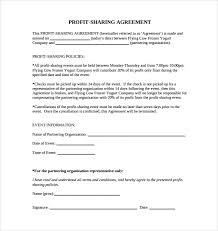 Profit Sharing Agreement Template profit share agreement template sample profit sharing agreement 100 2