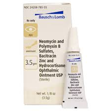 bausch lomb neopoly bac hc ophthalmic ointment 3 5gm manufacture may vary