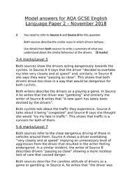 Example answer for question 2 paper 2: Digital Blog 2018 English Language Paper 2 Question 5 Cbse Sample Paper For Class 8 English With Solutions Mock Paper 1 Let S Stick With The Above Example About The Theme Of Imprisonment