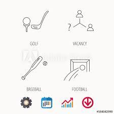 Baseball Signals Chart Football Golf And Baseball Icons Vacancy Linear Sign