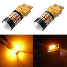 Bright Yellow Led Lights Car Super Bright Led 3157 Bulb 2835 Smd 4157 3457 3156 3057 3457a 4157na 3157a Amber Yellow Turn Signal Blinker Light Bulbs Lamp Led Lights Stands For