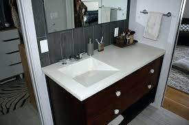 offset bathroom sink offset bathroom sink linen white concrete master bath vanity top with integral concrete offset bathroom sink
