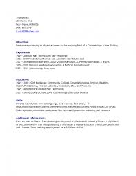 Objective For Professional Resume Hair Stylist Resume Objectives Sample Vinodomia Objective 19