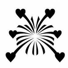 ハートの花火シルエット イラストの無料ダウンロードサイト