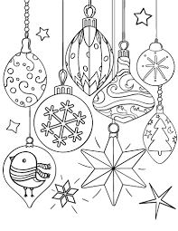 Small Picture Printable Christmas ornament coloring page Free PDF download at