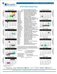Printable School Year Calendars Calendar 2019 2020 School Calendar