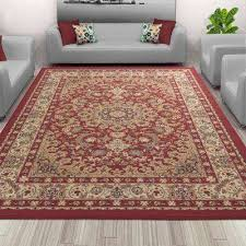 sweet home collection medallion design red 5 ft x 7 ft indoor area rug
