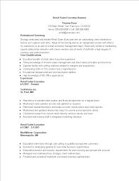 Retail Sales Executive Resume Free Retail Sales Executive Resume Sample Templates At