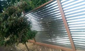 corrugated metal fence diy corrugated metal fencing fence privacy diy corrugated metal fence plans