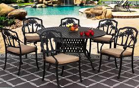 more views palm tree cast aluminum outdoor patio