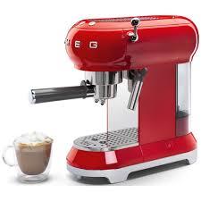 50s Style Kitchen Appliances Smeg Ecf01rduk 50s Style Espresso Coffee Machine Red