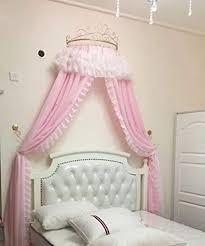 Amazon.com: KQCNIFVNKLM Princess Bed Canopy,European Wrought Iron ...