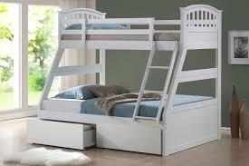 White Bunk Beds with Drawers