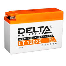 Стартерный <b>аккумулятор Delta CT</b> 12025 (12V / 2.5Ah) [YT4B-BS ...