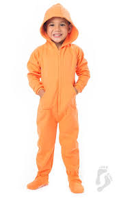 plus size footed pajamas goldfish orange toddler cotton hooded footed pajamas toddler