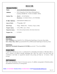Impressive Resume For Be Freshers Teacher Format Using Top Personal