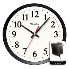 office wall clocks large. Round Electric Office Wall Clock, White Clocks Large