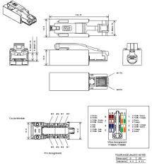 m rj cate modular plug mouser diagram