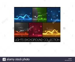 Set Of Shiny Space Energy Design Templates Abstract