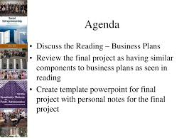 Lecture 04 Social Enterprise Business Plans And Community Need Plan