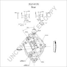 35214170 alternator product details prestolite leece neville 35214170 rear dim drawing